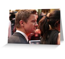 Jeremy Renner Greeting Card