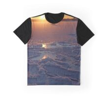 Icy Sunset Graphic T-Shirt