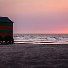 Beach Sunset, De Panne by Mandy  Harvey
