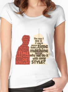 Back to the Future: A Time Machine out of a DeLorean Women's Fitted Scoop T-Shirt