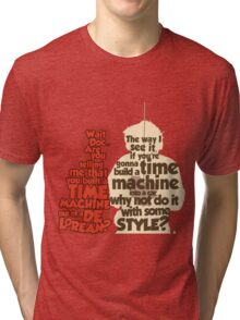 Back to the Future: A Time Machine out of a DeLorean Tri-blend T-Shirt