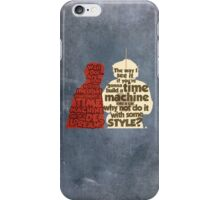 Back to the Future: A Time Machine out of a DeLorean iPhone Case/Skin