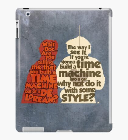 Back to the Future: A Time Machine out of a DeLorean iPad Case/Skin