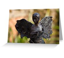 Celeste - Fabric-wrapped garden sculpture Greeting Card