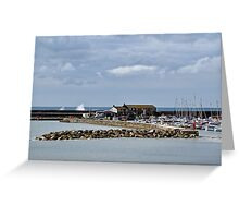 Harbour Overview ~ Lyme Regis Greeting Card