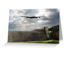 The Dam Busters over The Derwent Greeting Card
