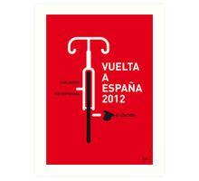 MY VUELTA A ESPANA 2012 MINIMAL POSTER Art Print