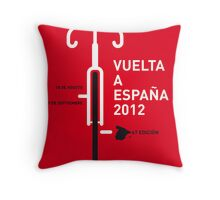 MY VUELTA A ESPANA 2012 MINIMAL POSTER Throw Pillow