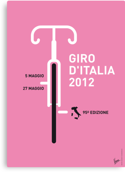 MY GIRO D'ITALIA 2012 MINIMAL POSTER by Chungkong