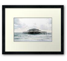 West Pier Silhoutte Framed Print