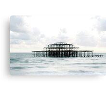 West Pier Silhoutte Canvas Print
