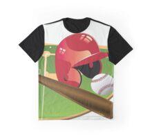 Red Baseball Graphic T-Shirt