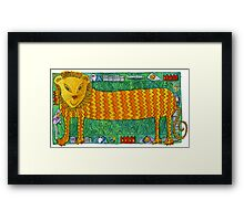 Long Lion Framed Print