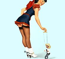 Stick 'em Up! Pin Up girl by Fiona Stephenson