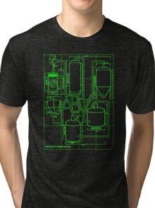 Alcohol By Volume Design (Green) Tri-blend T-Shirt