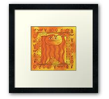 Sunbathing Cat (square) Framed Print