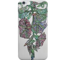 Vintage Style Stained Glass Morning Glory iPhone Case/Skin