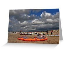 Kites on the beach Greeting Card