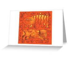 Love Cat and Dog Greeting Card