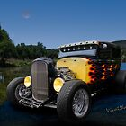 Flaming Model A Ford by ChasSinklier