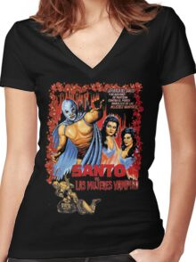 El Santo Women's Fitted V-Neck T-Shirt