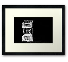 abstract cart trolly caddy buggy art Framed Print