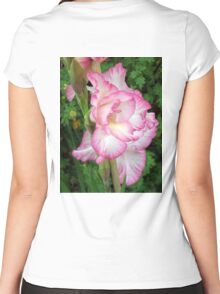 Beautiful Pink Gladiola Flower Women's Fitted Scoop T-Shirt
