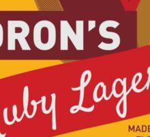 Ruby Lager Sticker