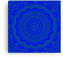 Psychedelic Blue Canvas Print