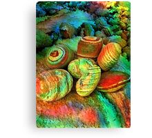 Colored stones by rafi talby   Canvas Print
