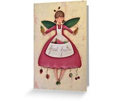 Fruit Angel Greeting Card