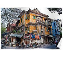 Vietnam. Hanoi. Old House. Poster
