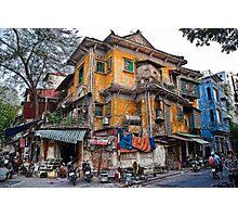 Vietnam. Hanoi. Old House. Photographic Print
