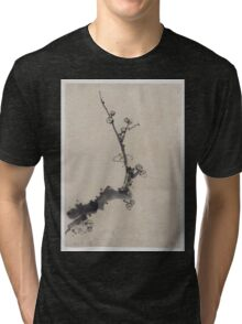 Fruit tree branch with blossoms 001 Tri-blend T-Shirt