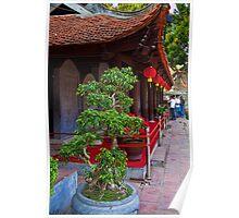 Vietnam. Hanoi. At the Temple of Literature. Poster