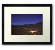 Overhead Death Valley Desert Lit by Moonlight and Stars Framed Print