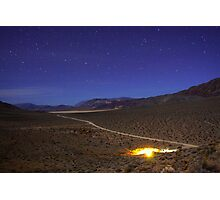 Overhead Death Valley Desert Lit by Moonlight and Stars Photographic Print