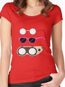 Glasses and Goggles- Potter/Starkid/Dr.Horrible Women's Fitted Scoop T-Shirt