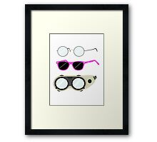 Glasses and Goggles- Potter/Starkid/Dr.Horrible Framed Print