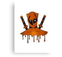 Orange Ninja Canvas Print