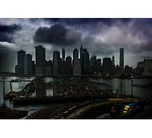Rain Showers Likely Over Downtown Manhattan Photographic Print