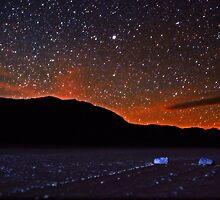 Starscape over Death Valley Sliding Stones by Gavin Heffernan