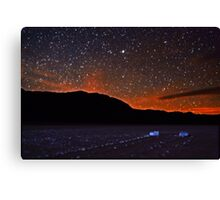 Starscape over Death Valley Sliding Stones Canvas Print
