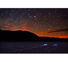 Starscape over Death Valley Sliding Stones Photographic Print