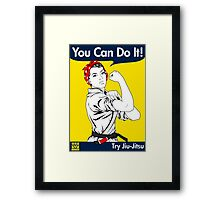 Try Jiu-Jitsu Framed Print