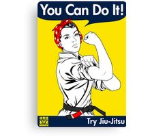 Try Jiu-Jitsu Canvas Print