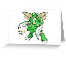 Scyther #123 Greeting Card