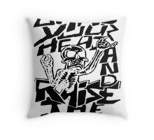 Bang your Head Throw Pillow