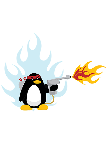 Flamethrower Penguin by Mehdals