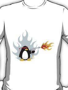 Flamethrower Penguin T-Shirt
